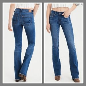 American Eagle Kick Boot Jeans Mid Rise Western